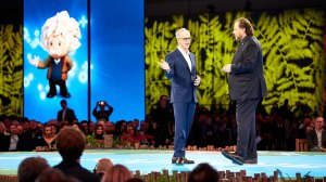 parker harris and marc benioff announce new Einstein features onstage at dreamforce '19