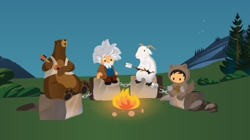 Illustration of Salesforce characters