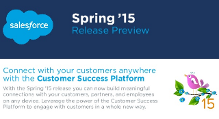 The Spring '15 Release Preview is Here [SLIDESHARE]