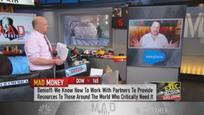 Marc Benioff Appears on Mad Money